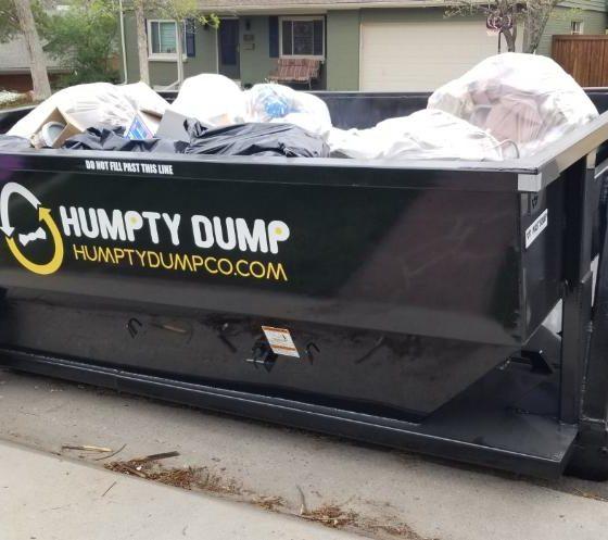 Humpty Dump Roll off Dumpster Closeup