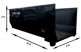 72 in. tall - 20 ft. length - 8ft. wide. - 3 ton weight limit
