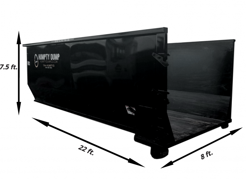 90 in. tall - 22 ft. length - 8ft. wide. - 5 ton weight limit