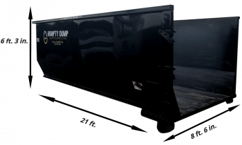 75 in. tall - 21 ft. length - 8 ft. 3 in. wide. - 3 ton weight limit