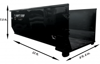 90 in. tall - 22 ft. length - 8 ft. 6 in. wide. - 5 ton weight limit